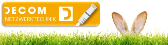 IT Sicherheit-Osterhaenohren- grüne Wiese-Decom Netzwerktechnik Logo