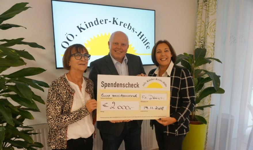 Frau Ingrid Kepplinger Vorstandsmietglied, Herr Dietmar Heinzlreiter Fa, DECOM, Frau Mag. Ulla Pehböck Obfrau
