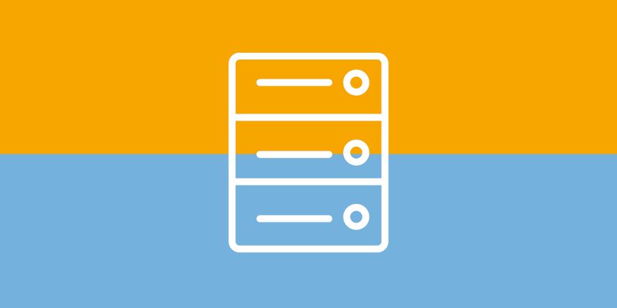 Netzwerktechnik - Server - Symbol