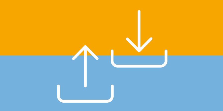 Netzwerktechnik - mobile Datenabfrage und Datenerfassung - Symbol