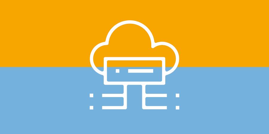 Netzwerktechnik - Hosting in der Cloud - Symbol