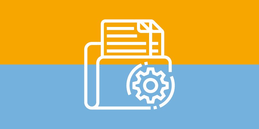 Netzwerktechnik - Datensicherung - Symbol